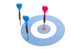 dartboard βέλη Στοκ εικόνες με δικαίωμα ελεύθερης χρήσης