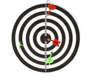 dartboard βέλη που απομονώνονται Στοκ εικόνες με δικαίωμα ελεύθερης χρήσης