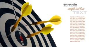 Dartboard με τα βέλη Στοκ φωτογραφία με δικαίωμα ελεύθερης χρήσης