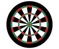 Dartboard вектора без используемых цифров (по мере того как цель в игре дротиков) иллюстрация вектора