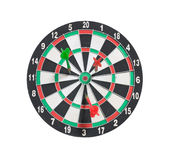 Dartboard и стрелки Стоковое фото RF