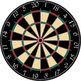 Dartboard Photo libre de droits