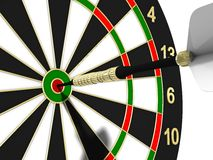 Dartboard. To strive for a goal Stock Photography