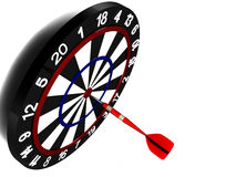 Dartboard stock illustratie