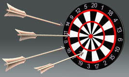 dartboard illustration libre de droits