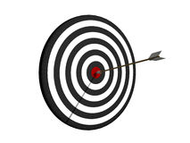Dartboard with arrow. On center Royalty Free Stock Image