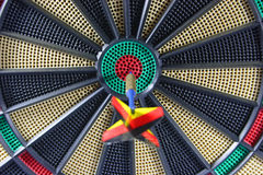 Dartboard with arrow Stock Photos