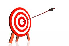 Dartboard with arrow Royalty Free Stock Images