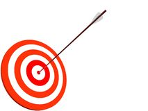 Dartboard with arrow Stock Photo