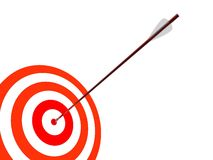 Dartboard with arrow Royalty Free Stock Photo
