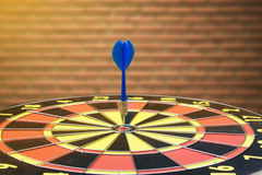 Dartboard is be like as the target center and goal of business. Royalty Free Stock Photography