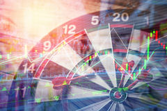 Dartboard bedrijfs stretegy ideeënconcept Royalty-vrije Stock Foto