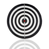 Dartboard with black and white circles royalty free stock photo