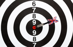 Dartboard bulls eye. Stock Photos