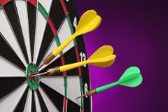 Dartboard bulls eye. Stock Image