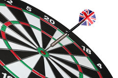 Dartboard bulls eye. Stock Photography