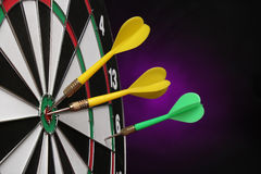 Dartboard bulls eye. Royalty Free Stock Images