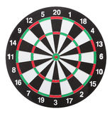 Dartboard bulls eye. Isolated on white background Stock Photo