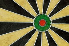 Dartboard bullseye royalty-vrije stock afbeeldingen