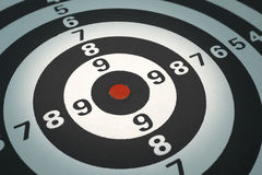 Dartboard bullseye Royalty Free Stock Images