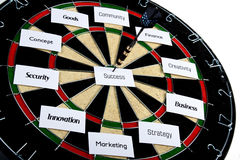 Dartboard business concept Stock Photography