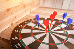 Dartboard business success ideas concept royalty free stock photography