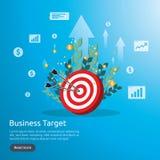 dartboard centrum cel strategii osiągnięcie i sukcesu płaski projekt Łuczniczy strzałka cel, strzała i Biznesowy wektorowy pojęci royalty ilustracja