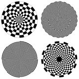 Dartboard & Checkerboard Spirals stock illustration