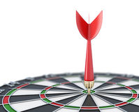 Dartboard close-up with a dart at a target Royalty Free Stock Photography
