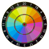 Dartboard Color picker Stock Photography