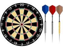 Dartboard com dardos Imagem de Stock Royalty Free