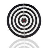 Dartboard con i cerchi in bianco e nero Fotografia Stock Libera da Diritti