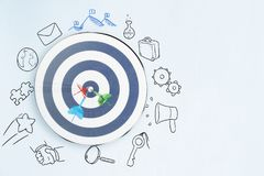 Targeting and leadership concept stock images