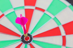 Dartboard with dart Royalty Free Stock Photography