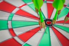 Dartboard with dart Stock Image