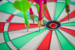 Dartboard with dart Stock Photography