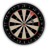 Dartboard with a dart hit on target Stock Photography