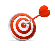 Dartboard with dart. Hitting A Target Royalty Free Stock Photos