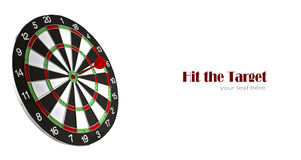 Dartboard with dart Royalty Free Stock Image