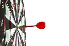 Dartboard with dart. On white background Royalty Free Stock Photos