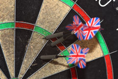Dartboard and darts Royalty Free Stock Image