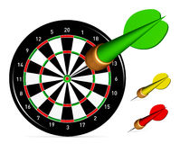 Dartboard with Darts Stock Photos