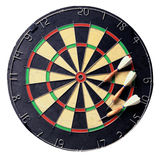 Dartboard with darts Royalty Free Stock Images
