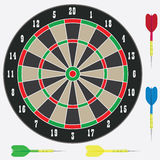Dartboard with darts. Royalty Free Stock Photography