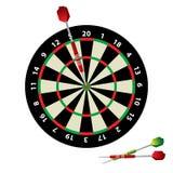 Dartboard and darts. Vector illustration Royalty Free Stock Photography