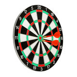 Dartboard with darts. Dart board with darts isolated on white Royalty Free Stock Photography