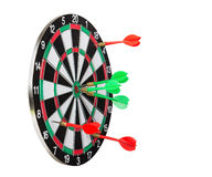 Dartboard and Darts Stock Photo