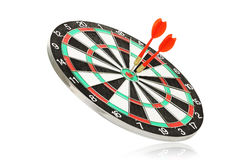 Dartboard with darts Royalty Free Stock Photos
