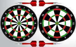 Dartboard for darts game. Dartboard illustration for darts game, sport practice training isolated on white background vector illustration