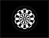 Dartboard for darts game vector illustration eps10. On black background royalty free illustration
